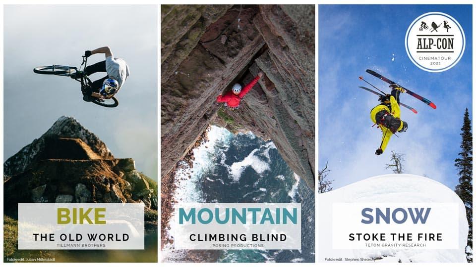 Alp-Con CinemaTour 2021 - Bike, Mountain, Snow - Tourbanner quer